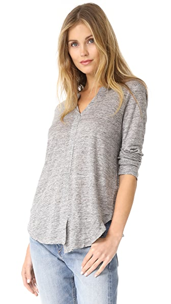 Wilt Linen Shifted Pullover - Grey Heather