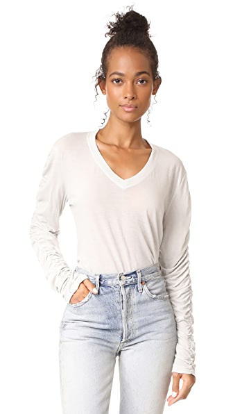 Wilt Ruched Pullover In Cement