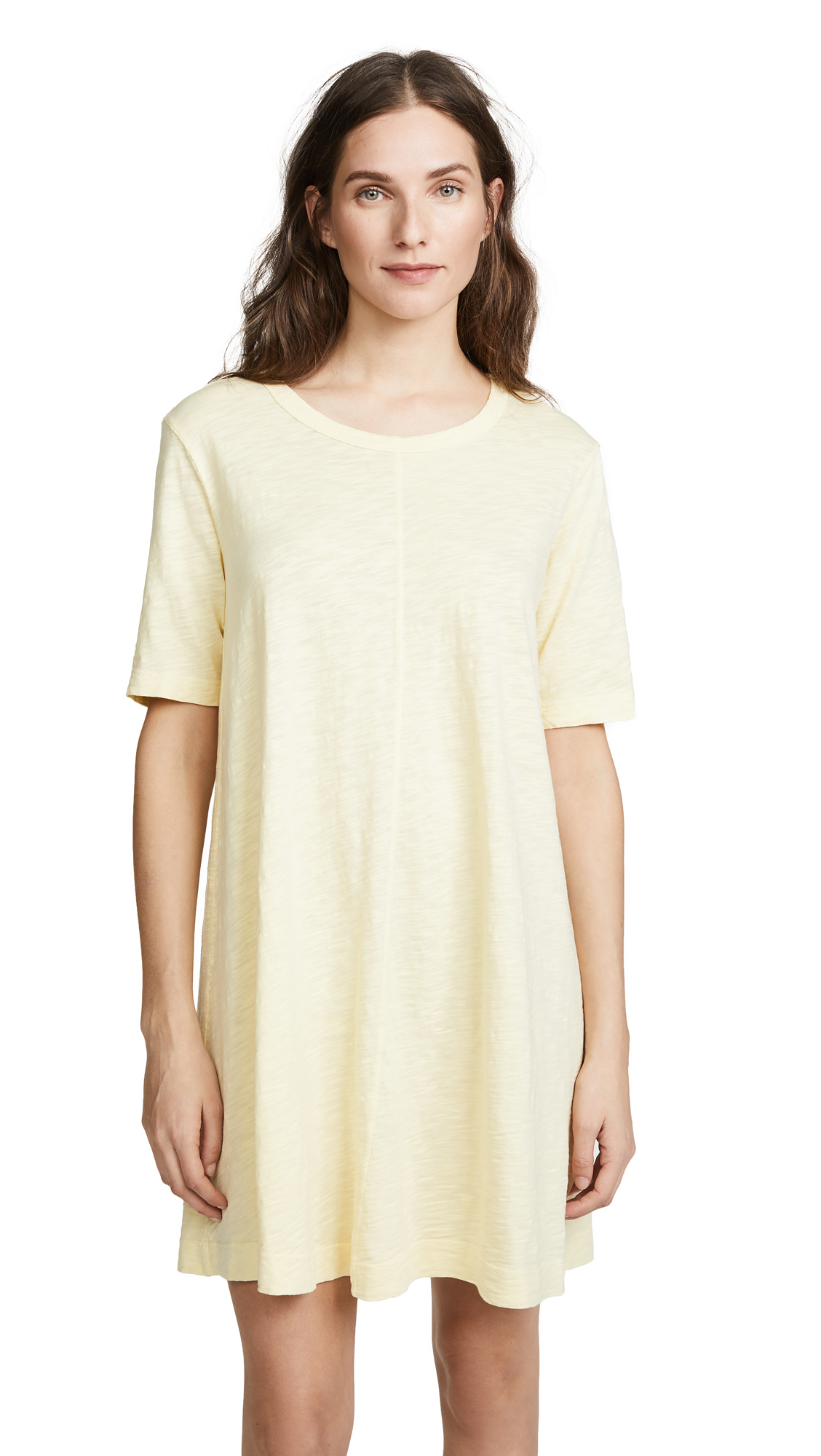 Wilt Trapeze Tee Dress In Buttercup