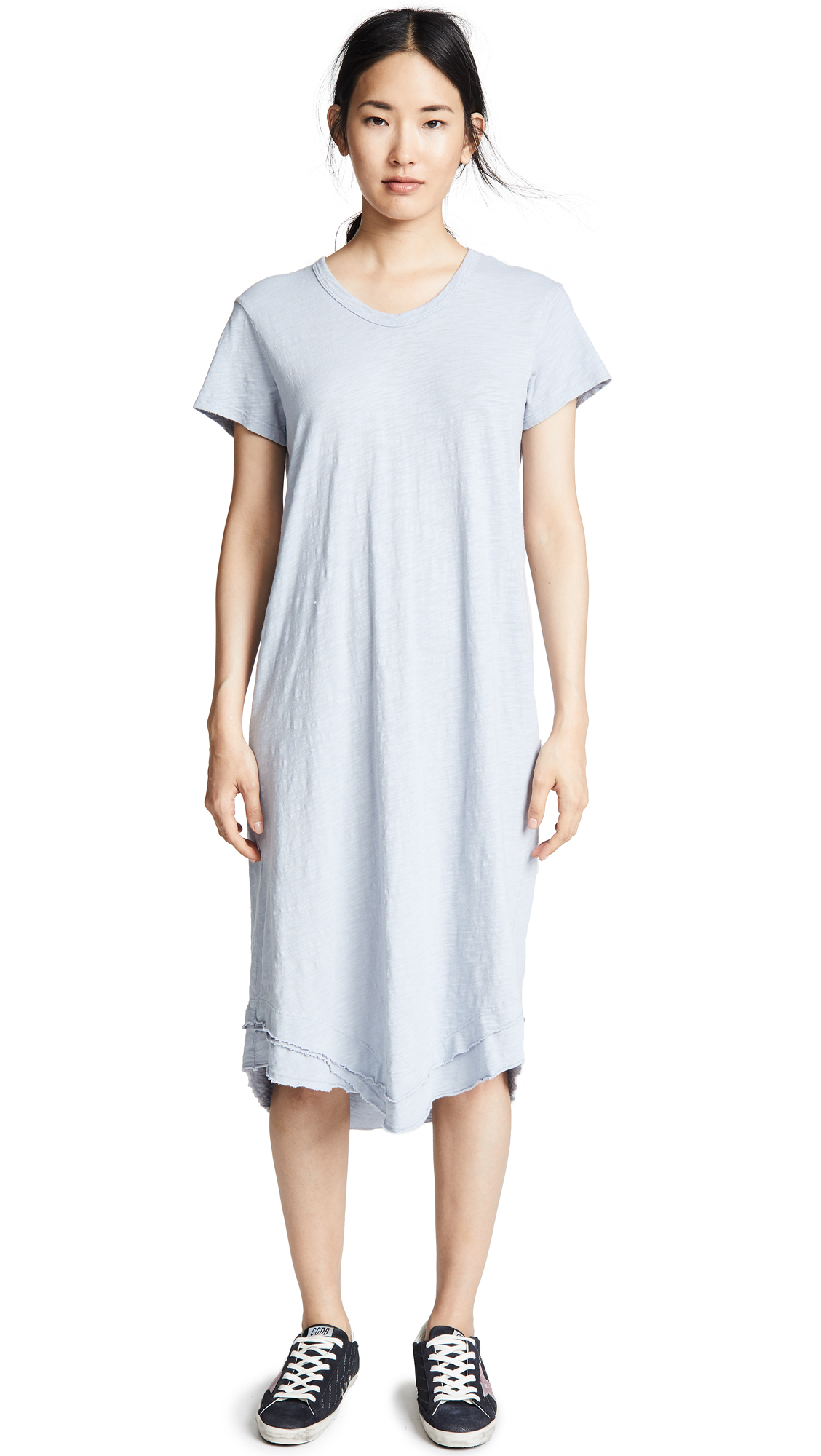 Wilt Crew Tee Dress In Fog
