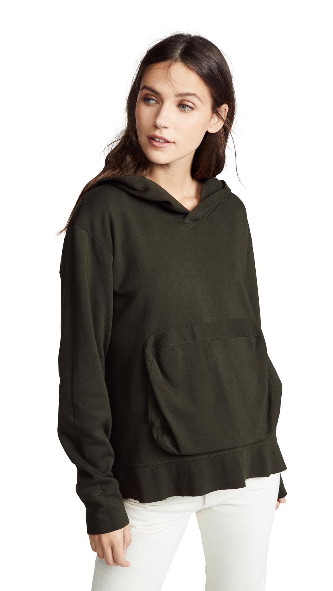 WILT Slouchy Pocket Long Sleeve Hoodie in Seaweed
