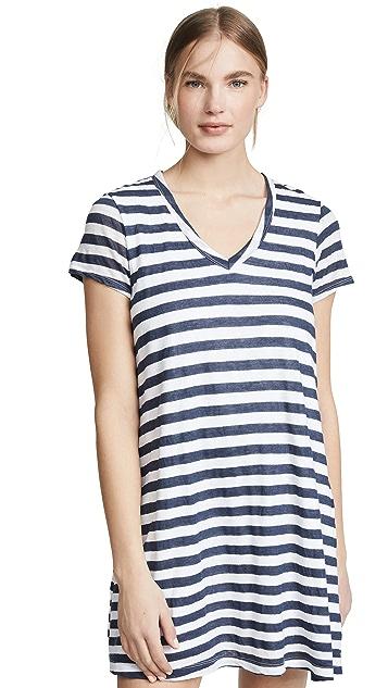 Wilt Striped Short Sleeve Dress