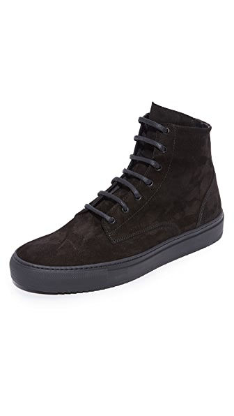 Wings + Horns Service Leather High Top Sneakers
