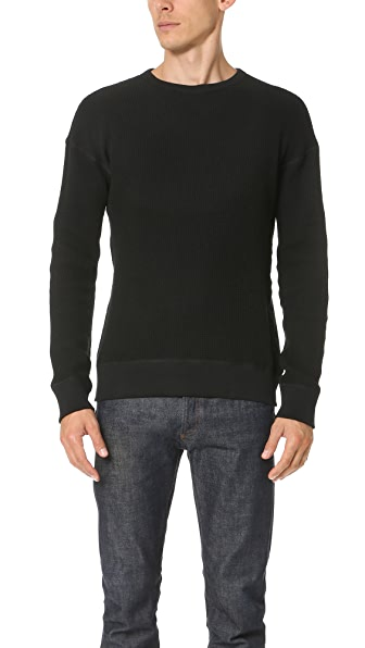 Wings + Horns Knit Wool Crew Neck Sweatshirt