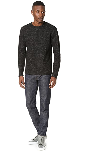 Wings + Horns Marbled Wool Crew Neck Sweater