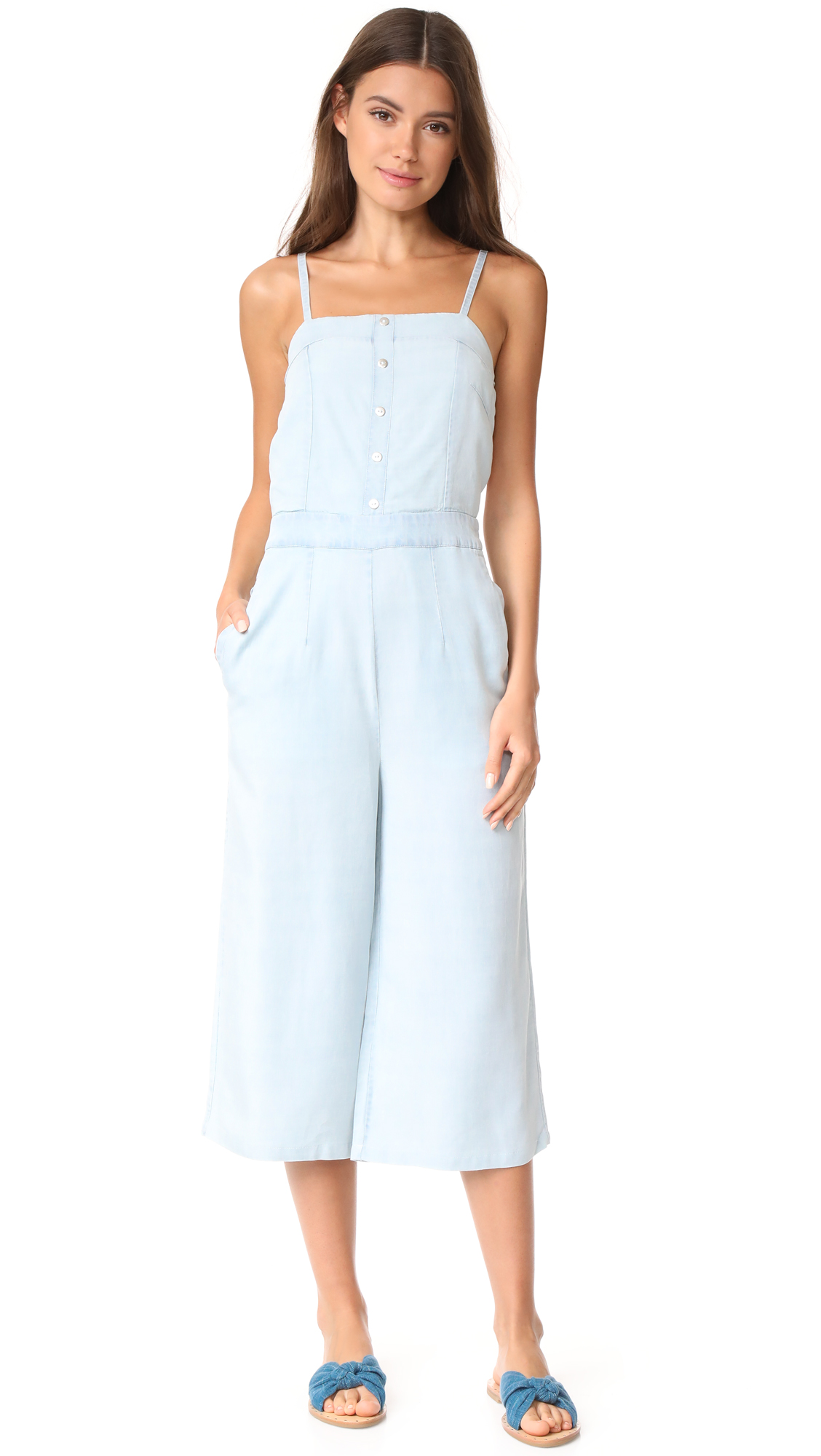 We Are Kindred Austen Girl Jumpsuit - Chambray Rose