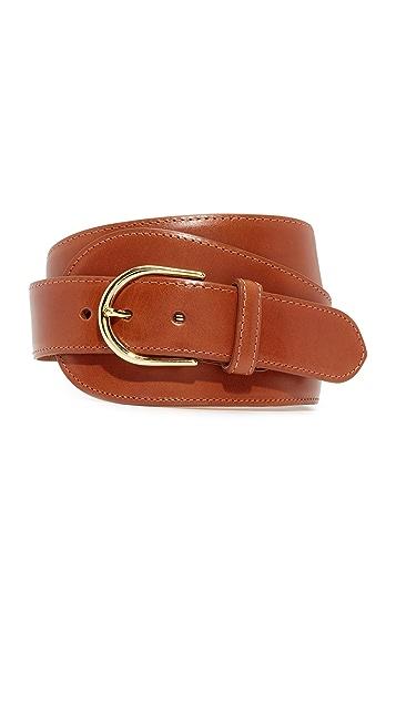W.Kleinberg Glazed Leather Large Tab Belt