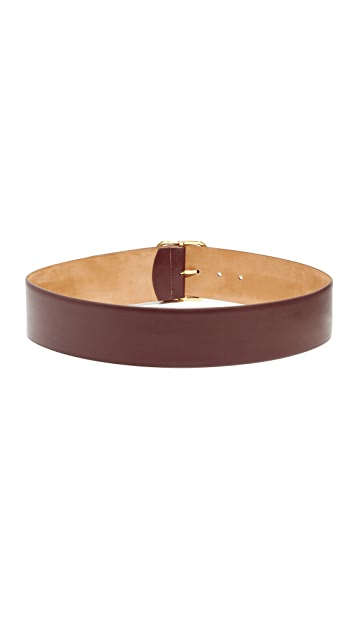 W.Kleinberg Glazed Leather Bar Belt
