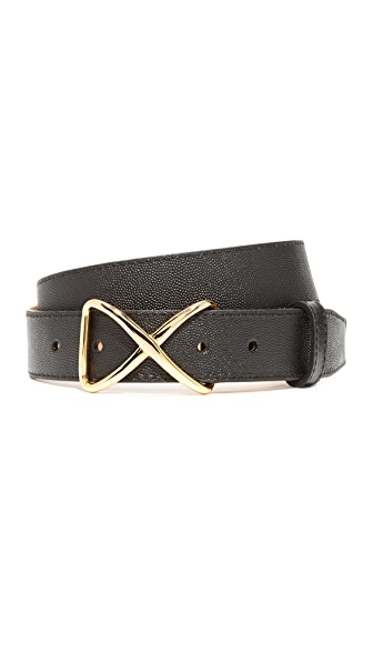 W.Kleinberg Pimmed Leather X Belt