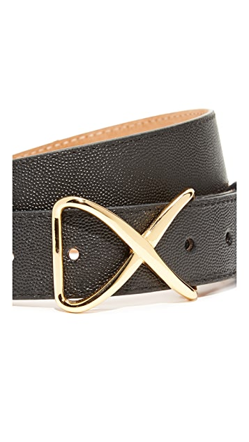W.Kleinberg Pimmed Leather X Belt