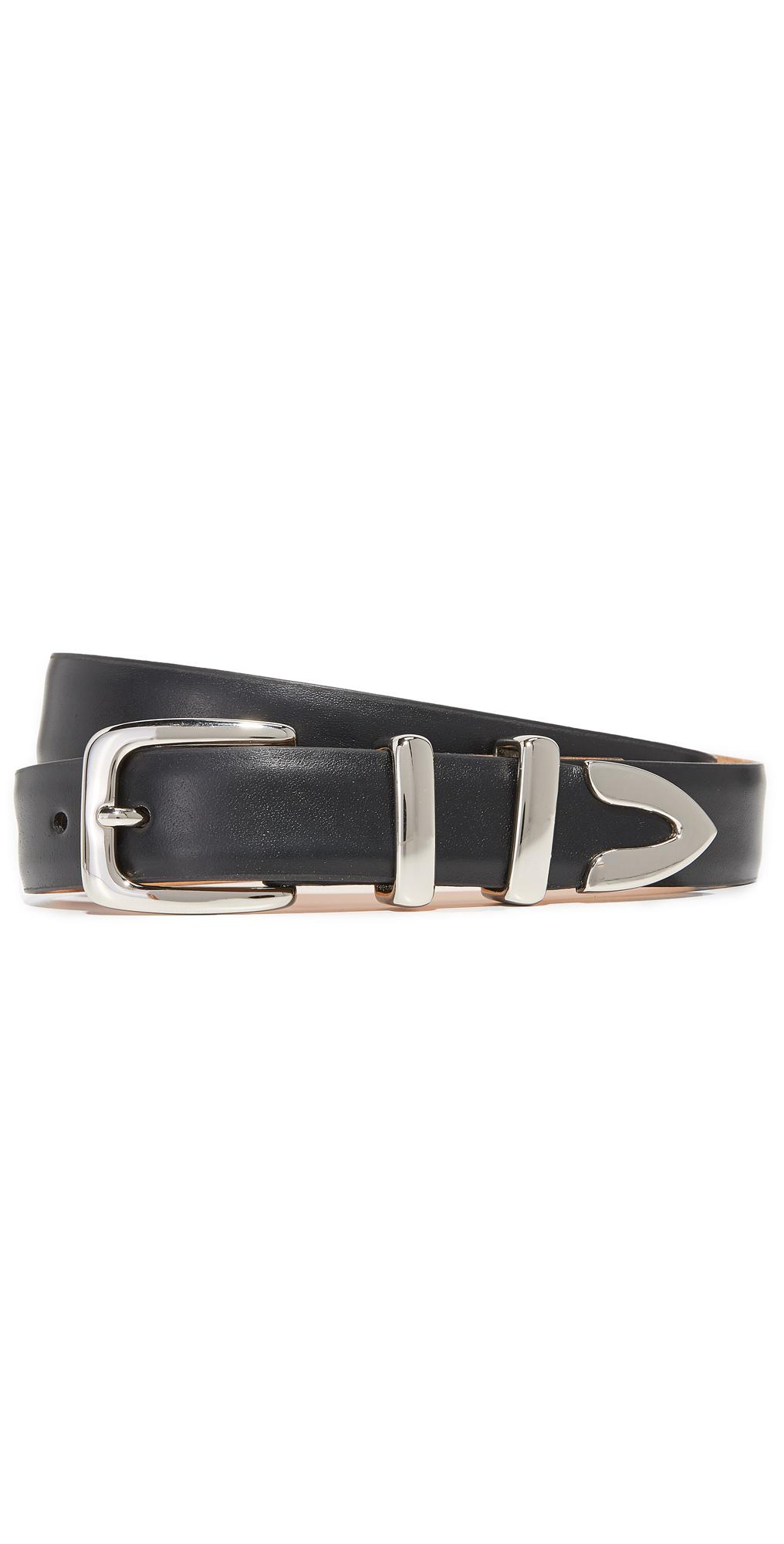 Semi Matte Leather Tip Set Belt W.Kleinberg