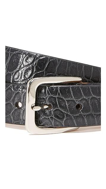 W.Kleinberg Embossed Croc Leather Belt