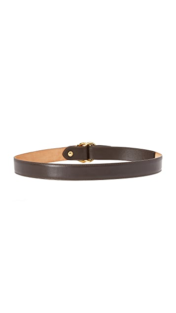 W.Kleinberg Leather O Ring Belt