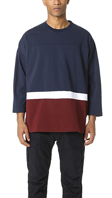 White Mountaineering Big Silhouette Contrast Tee