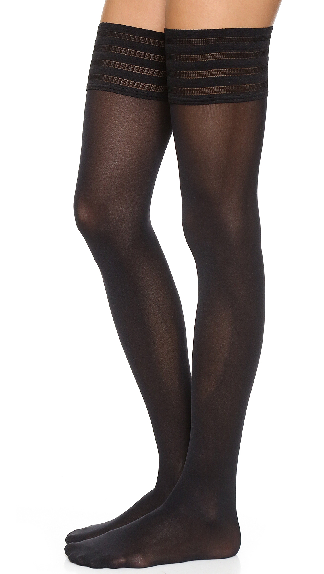 Wolford Velvet De Luxe 50 Stay Up Tights In Black