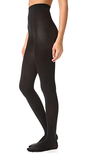Wolford Velvet 66 Leg Support Tights - Black
