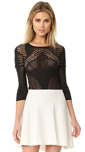 Wolford Net Lace String Bodysuit