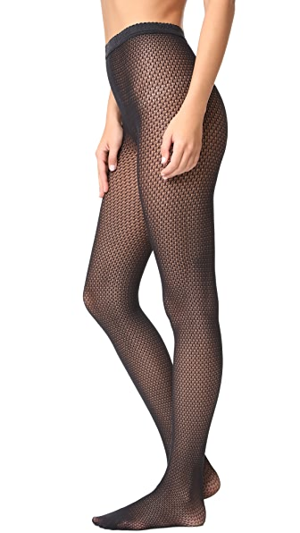 Wolford Rhomb Net Tights - Black