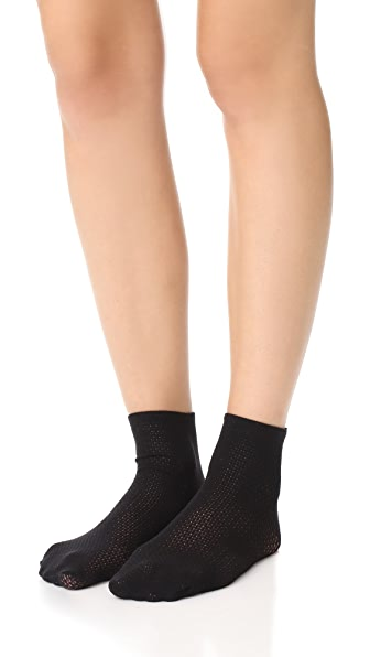 Wolford Rhomb Net Socks - Black