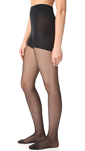 Wolford Dots Control Top Tights - Black
