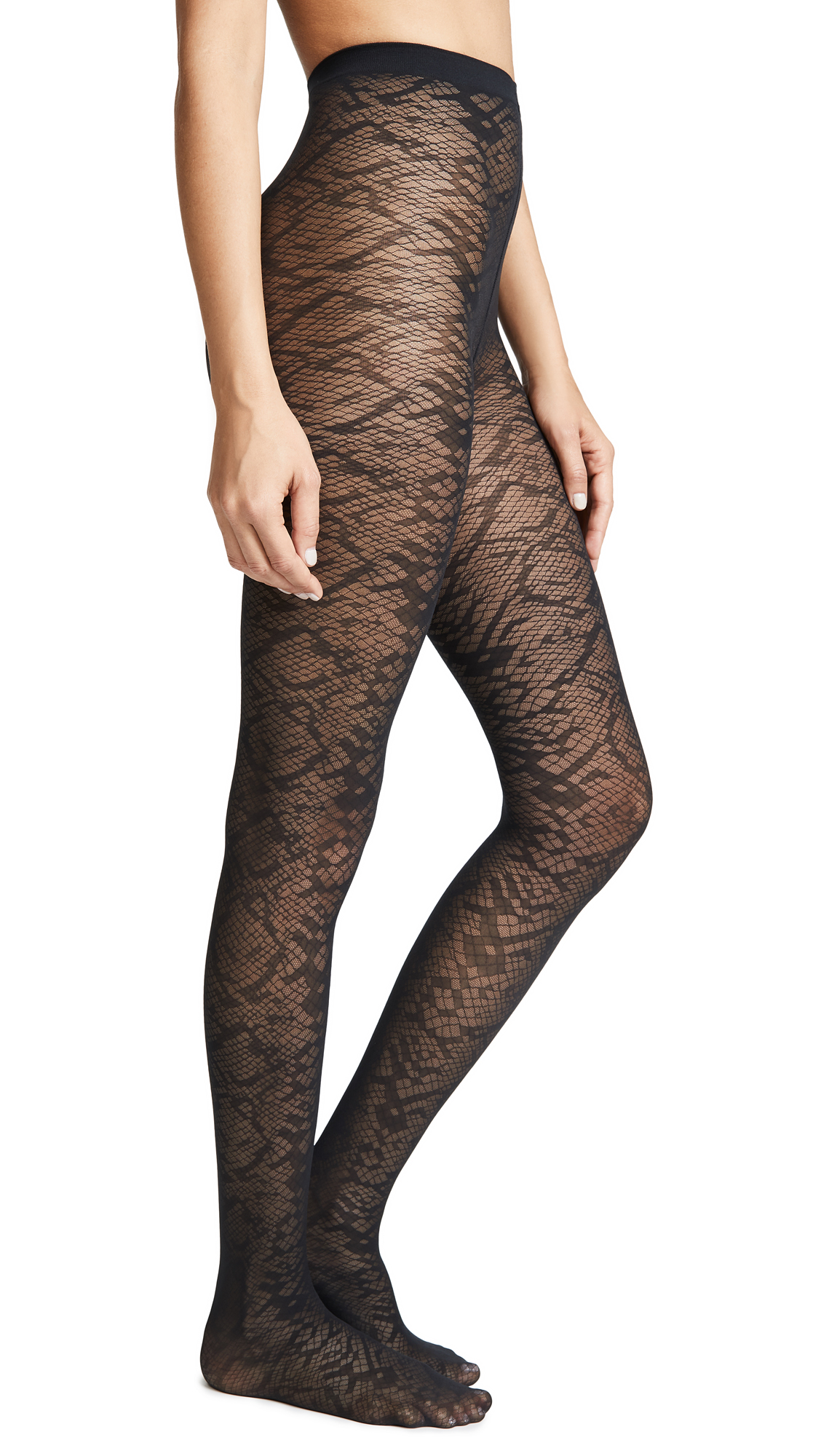Wolford Albertina Tights In Black/Black