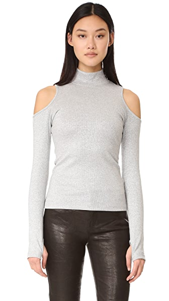 Won Hundred Simona Cold Shoulder Sweater In Silver