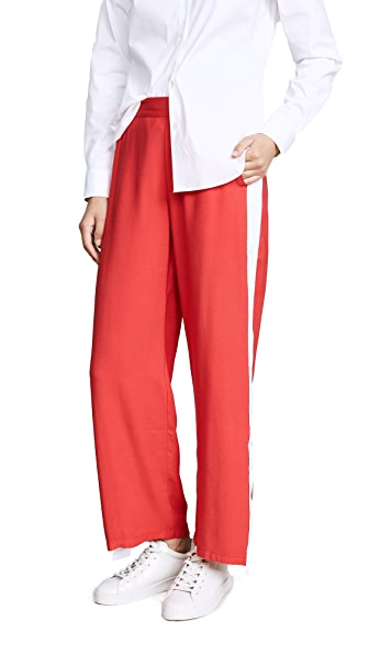 Won Hundred Lilian Track Pants In Red/White
