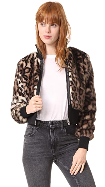 Won Hundred Jaden Leopard Bomber Jacket at Shopbop