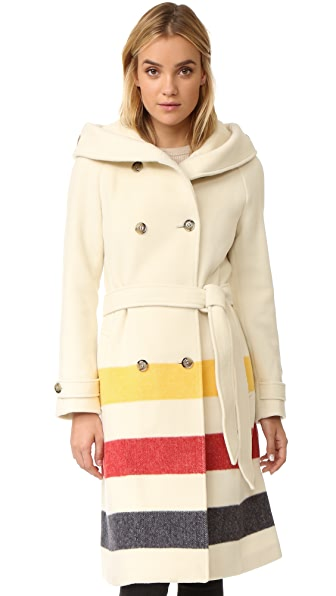 Woolrich Monica Coat - Greenlander Stripe