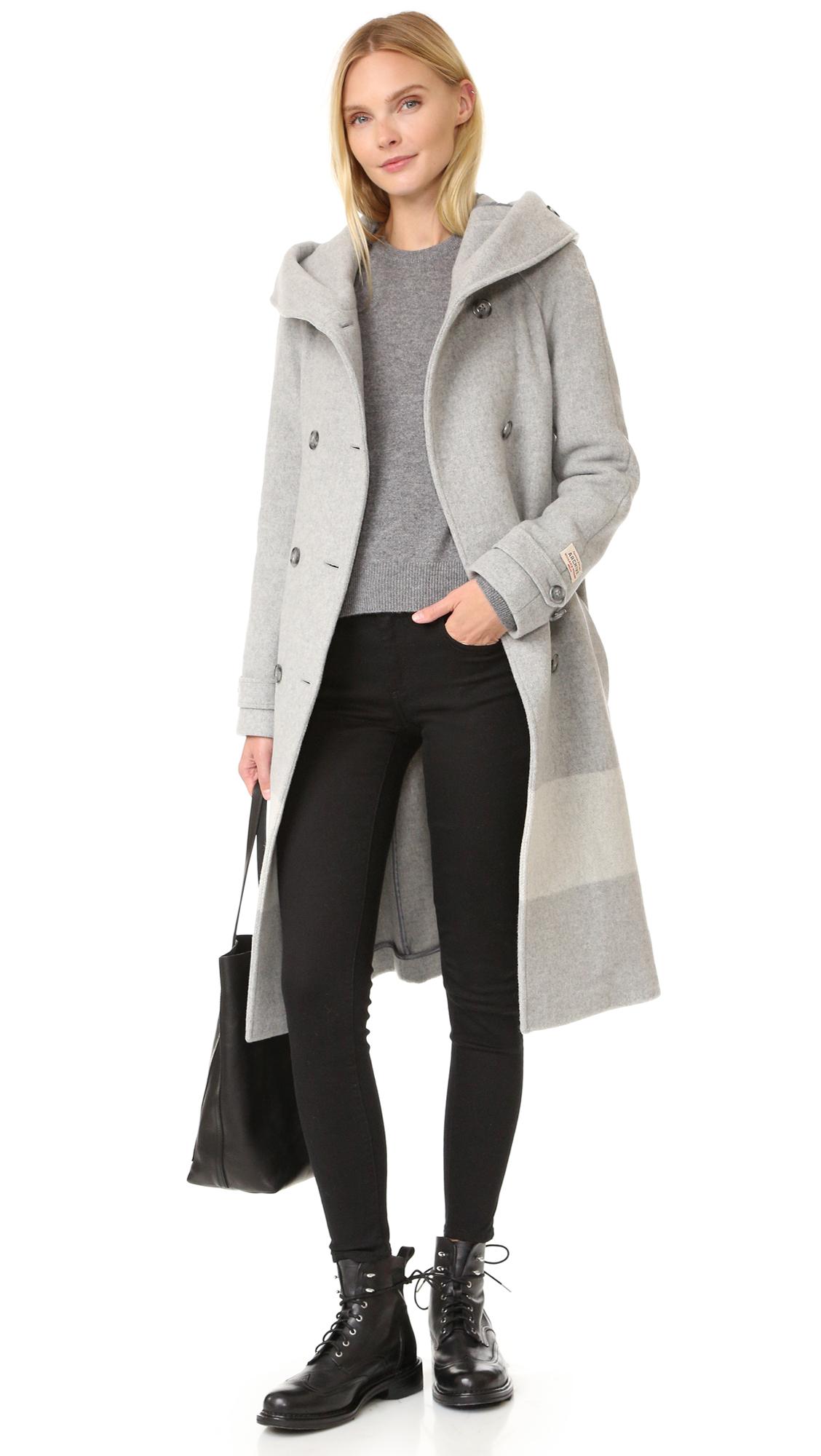Grey Woolrich Coat