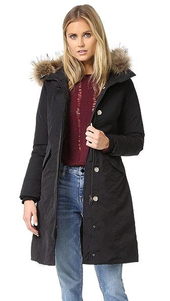 Woolrich Luxury Long Parka - Black