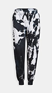 Worthy Threads Black Tie Dye Joggers