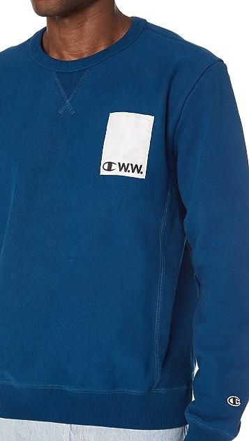 Wood Wood x Champion Crew Neck Sweatshirt