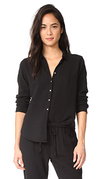 XIRENA Scout Button Down - Black