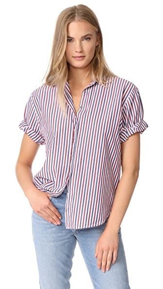XIRENA Yale Club Short Sleeve Top - Blushing