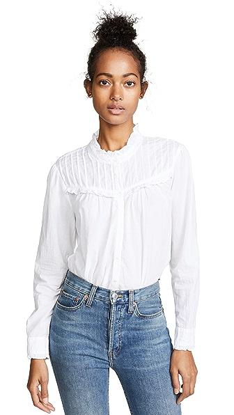 XIRENA Romy Blouse In White