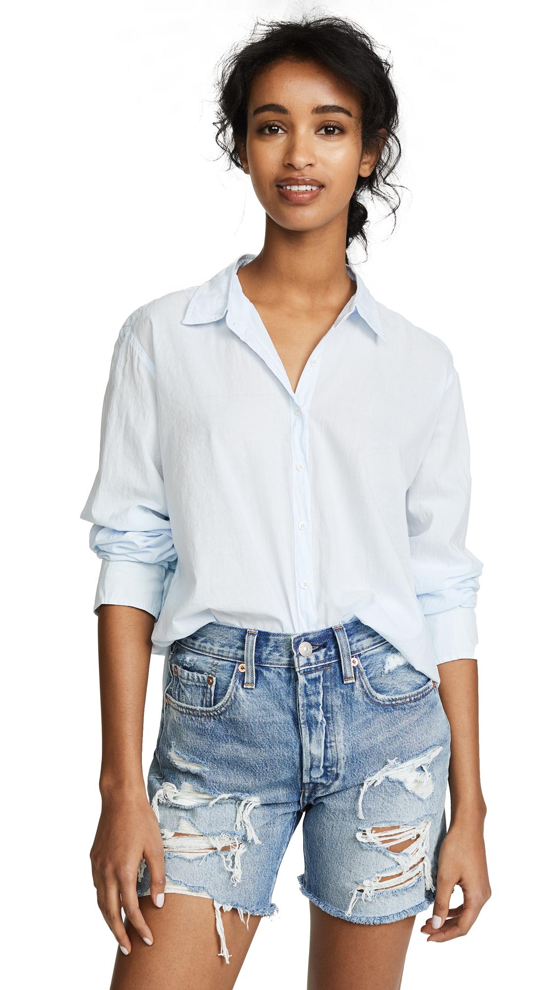 XIRENA Beau Button Down Shirt - Iris Blue