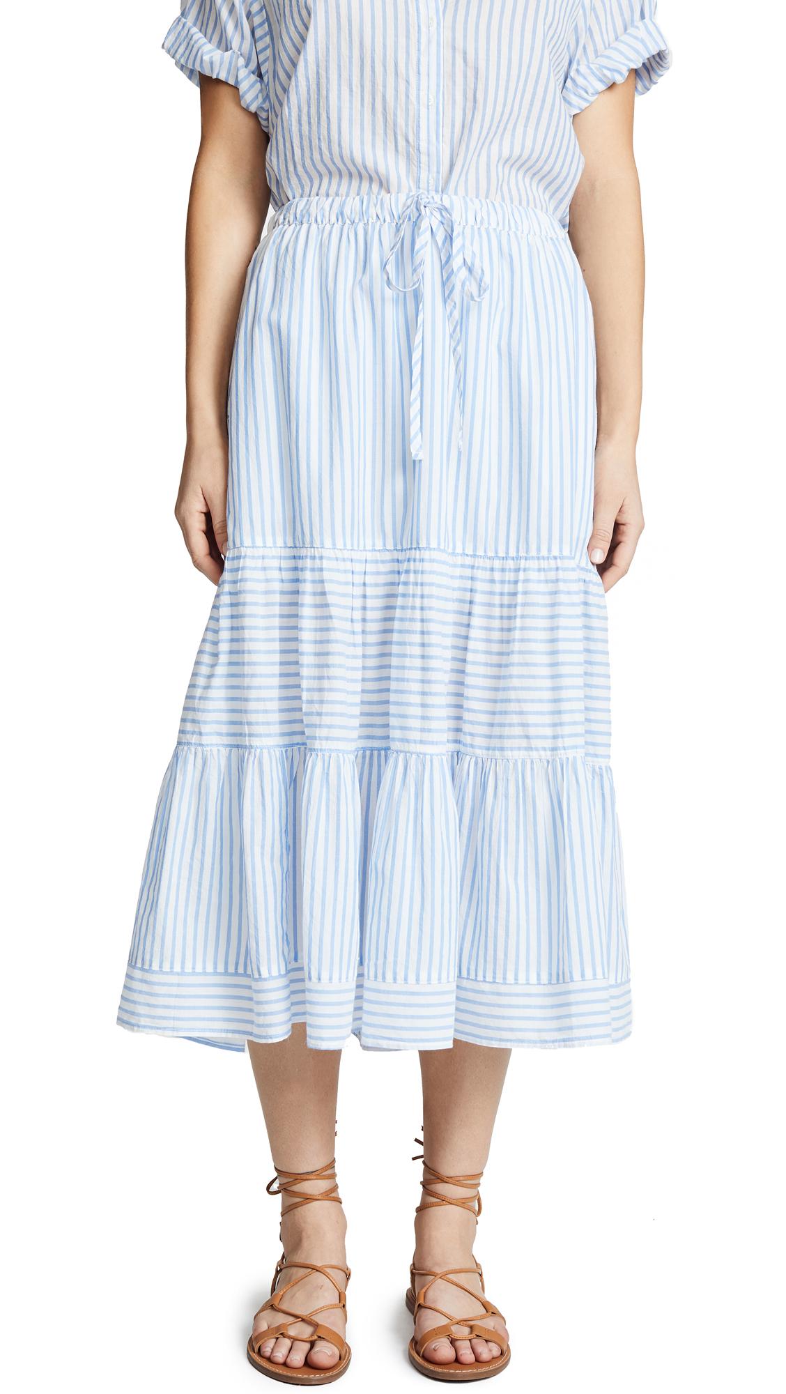 XIRENA Malone Skirt In Pacific Blue