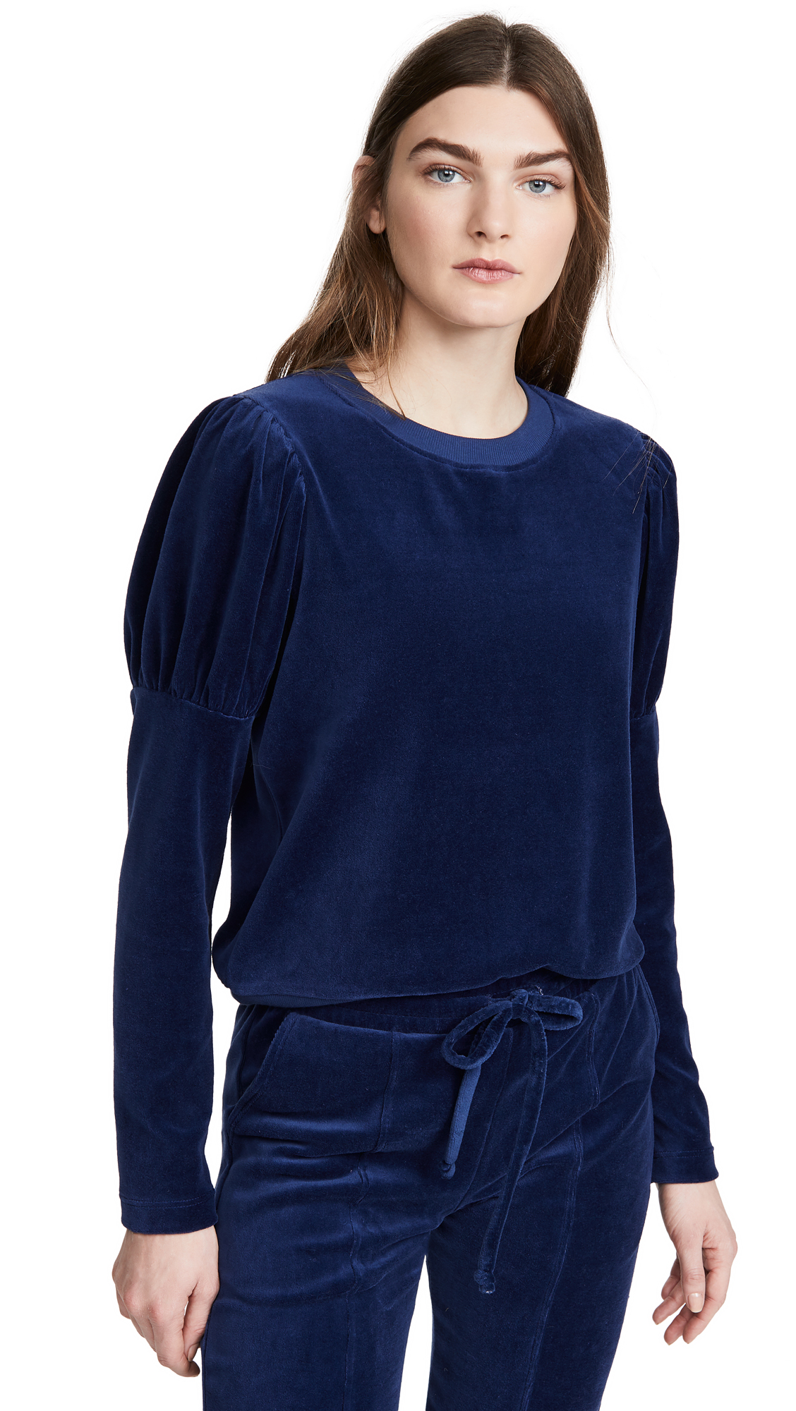 Buy Year of Ours online - photo of Year of Ours Velour Puff Sleeve Sweatshirt
