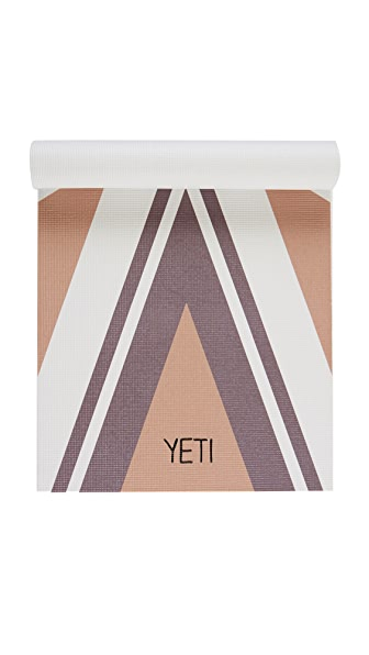 Yeti Yoga The Capricorn Yoga Mat - Brown/White