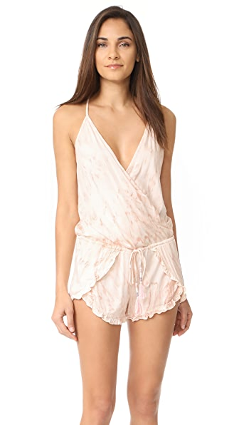 Young Fabulous & Broke Coral Romper