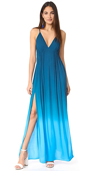 Young Fabulous & Broke Plane Dress - Pool Blue Ombre