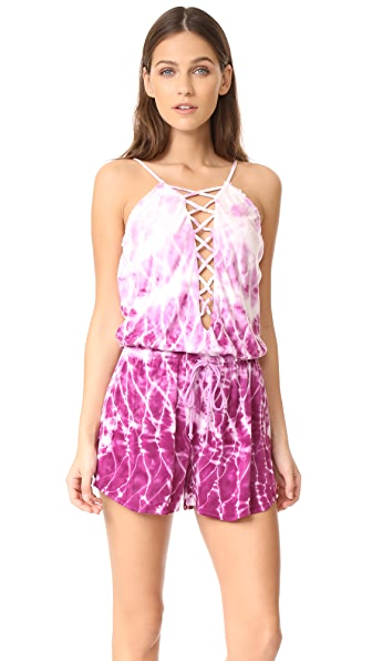 Young Fabulous & Broke Delano Romper - Purple Reflection Wash