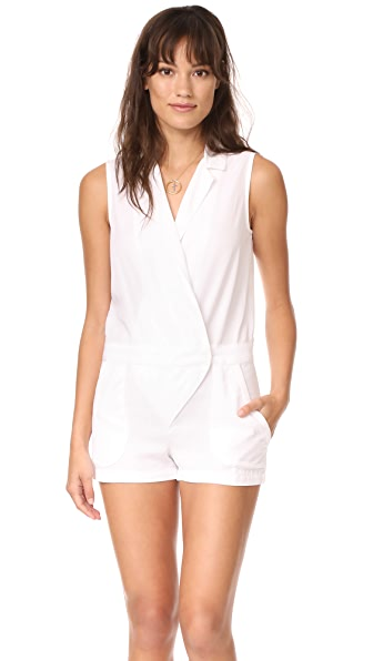 Young Fabulous & Broke YFB Clothing Drake Romper In White