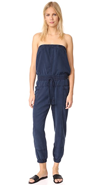 Young Fabulous & Broke YFB Clothing Luke Jumpsuit - Navy