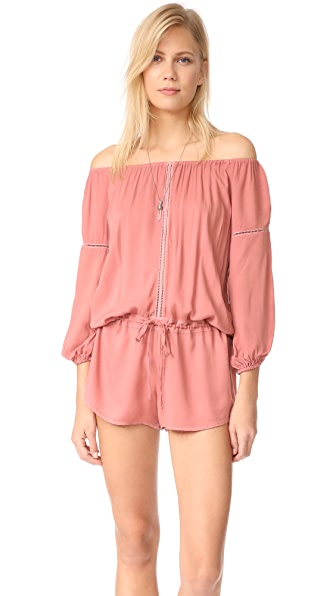 Young Fabulous & Broke YFB Clothing Emmie Romper - Rustic Peach