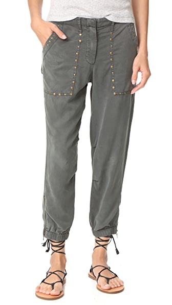 Young Fabulous & Broke YFB Clothing Hayden Studded Pants - Grey