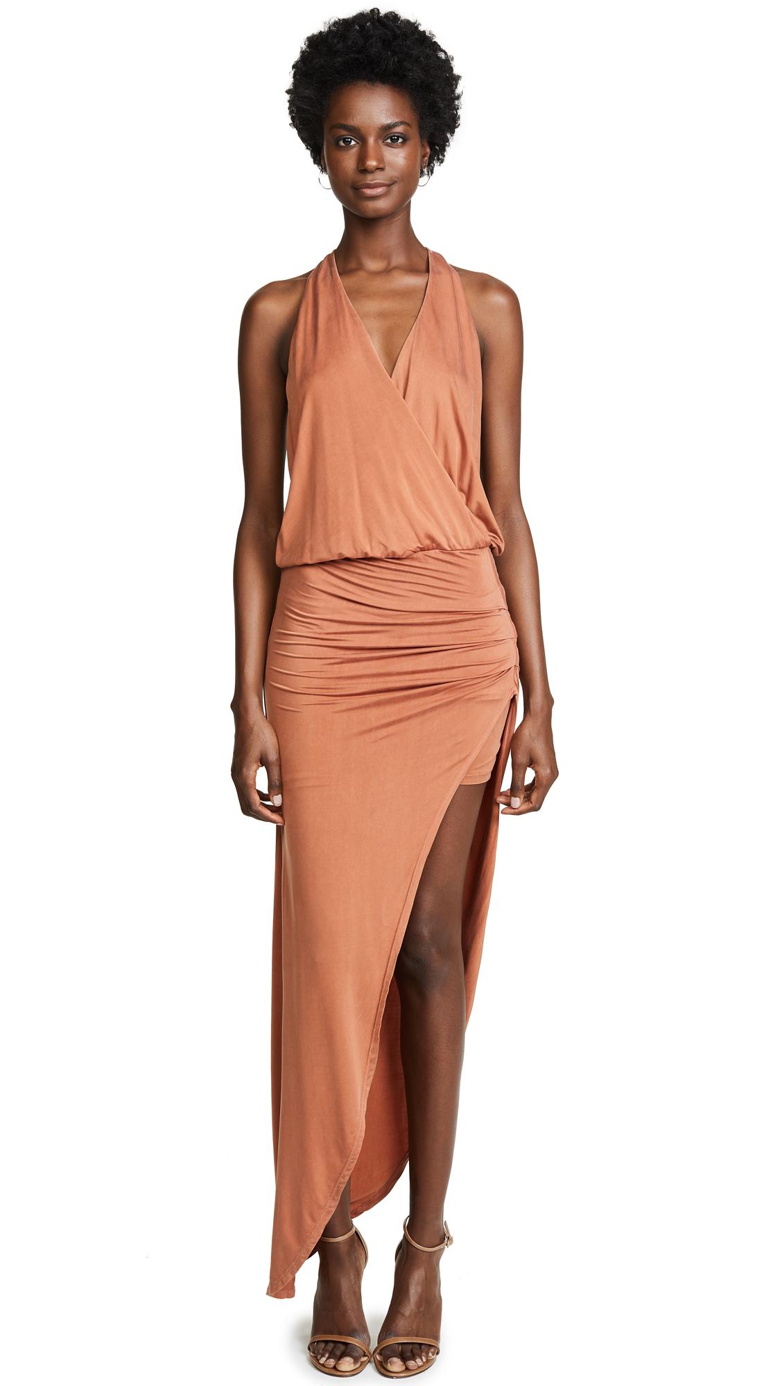Young Fabulous & Broke Birdseye Dress In Bronze