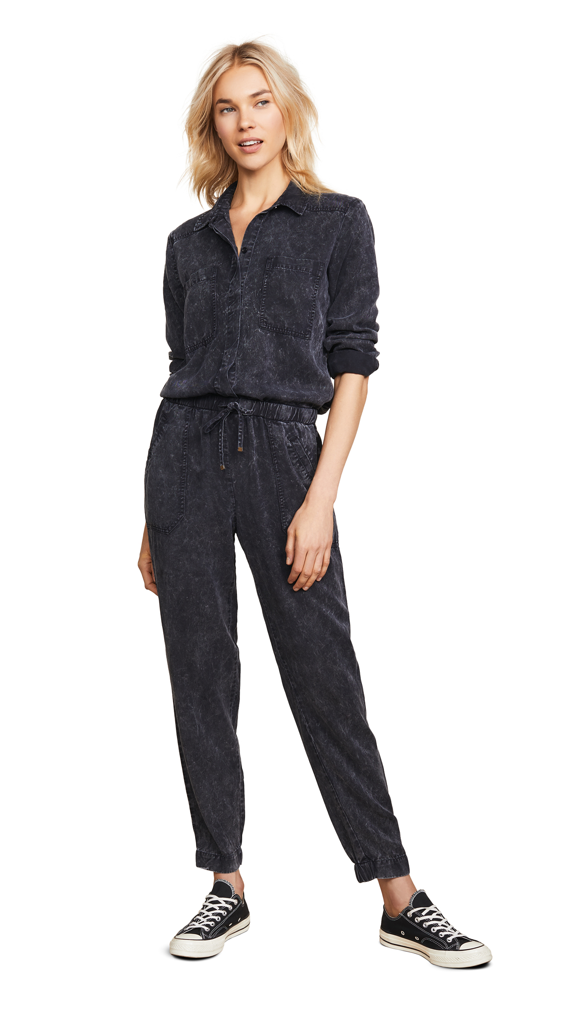 YOUNG FABULOUS & BROKE Everest Jumpsuit in Black