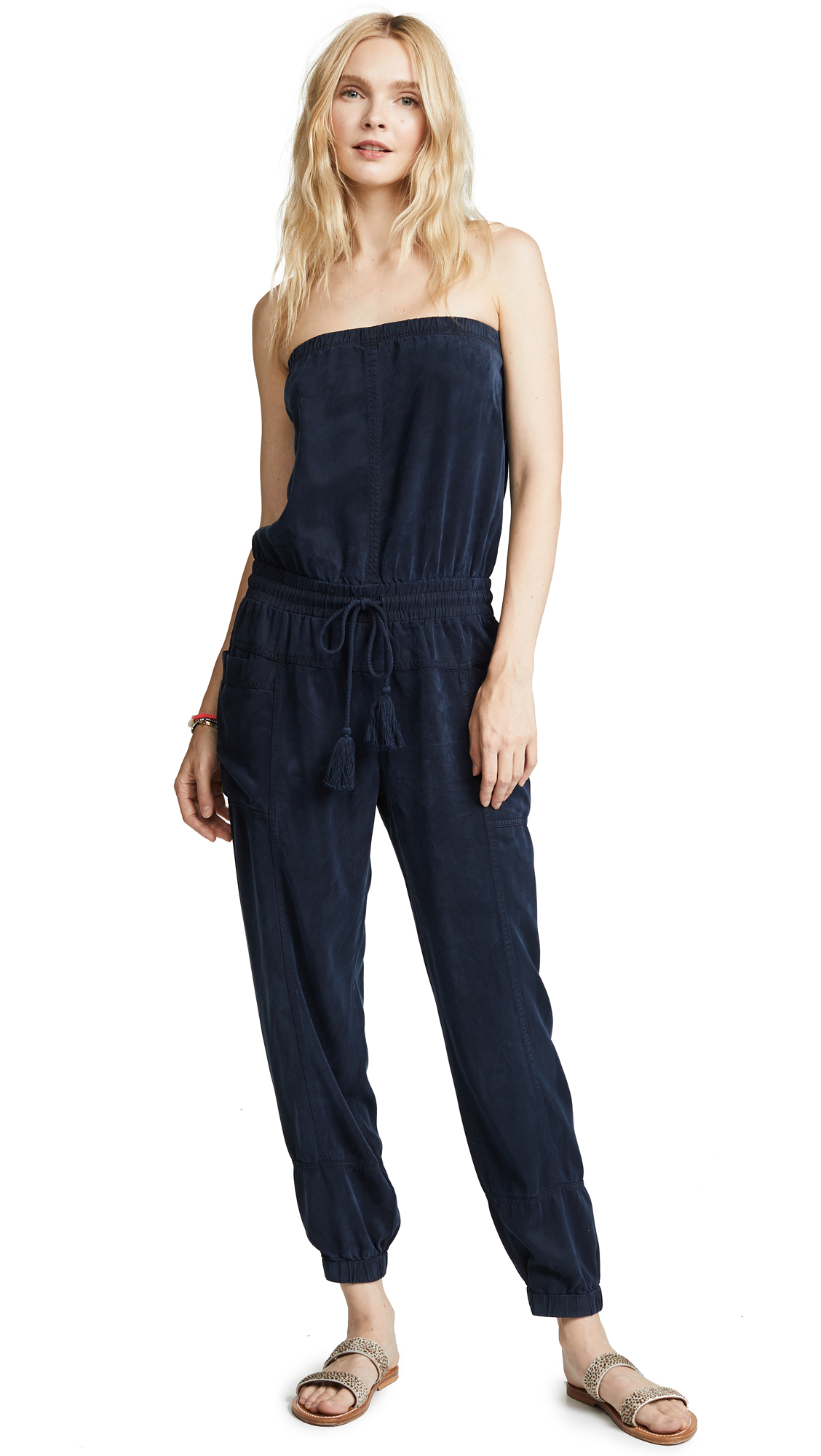 Young Fabulous & Broke Luke Jumpsuit In Navy
